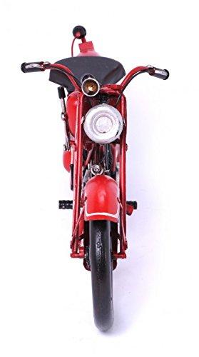 Model Motorcycle Moto Guzzi, red - Retro Tin Model