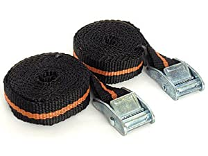 Pair of Cam belt buckle strap for luggage racks