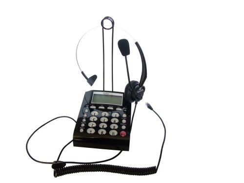 Lotfancy New Headset Feature Telephone, T400 Heahodset Headpnes Ear Phone (For Esi 48-Key Ip Feature Phone, 48-Key Digital Feature Phone Ip Telephone) + Calltel Ct-800 Dial Key Pad Telephone W/ Over-The-Head Headset With Redial, Redial, Volume Control ...