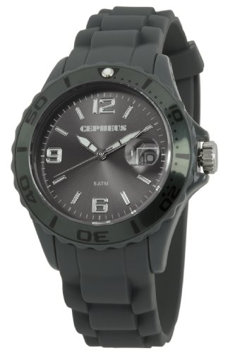 Cepheus Women's Quartz Watch with Grey Dial Analogue Display and Grey Silicone Strap CP603-090B