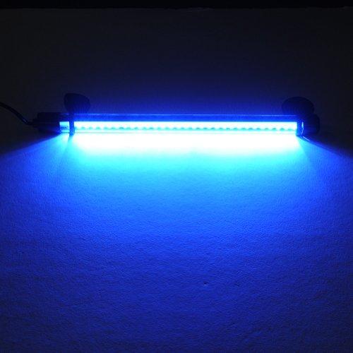 Prodeals® 3.7W 28Cm 30 Led Diving Lighting Under Water Lights Underwater Aquarium Led Blue Light Bar Flood Light Strip Tube Aquarium Fish Tank Submersible Air Bubble Light