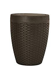 1.63-Gal Round Trash Can Color: Brown