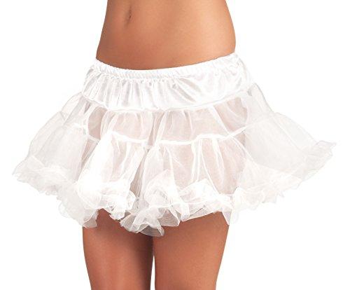 01781 - Petticoat für Erwachsene, Einheitsgröߟe, weiß