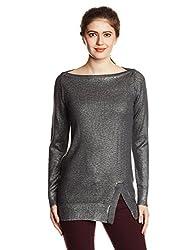 GAS Womens Wool Blouson Sweater (83284_Graphite_Medium)