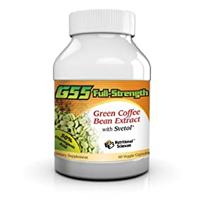 AS SEEN ON DR. OZ! 100% NATURAL G55 Full-Strength Green Coffee Bean Extract (MAXIMUM Weight Loss)! #1 Clinically Proven to Control Your Appetite and Lose Weight! - 60 Capsules/Bottle! from Nutritional Sciences