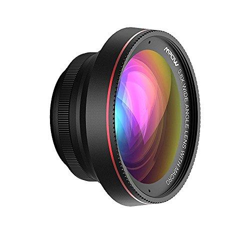 Mpow 2 in 1 Clip-Onレンズ 広角レンズ(0.6X)+マクロレンズ(10X) 専門カメラ(ネジ直径37mmだけ)/iPhone /アンドロイドなどスマートフォン用
