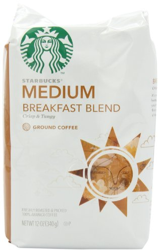 Starbucks Breakfast Blend Coffee, Ground, 12 Ounce (Pack of 6)