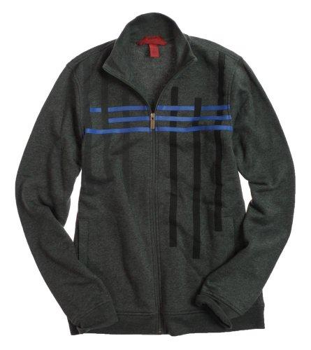 Alfani Mens Interlace Print Mock Basic Jacket Jacket Coat - S