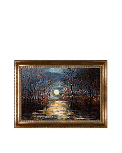 "Justyna Kopania ""Moon (Harvest)"" Framed Giclée on Canvas"