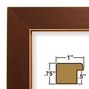 "11x18 Picture / Poster Frame, Wood Grain Finish, 1"" Wide, Red (286RD)"