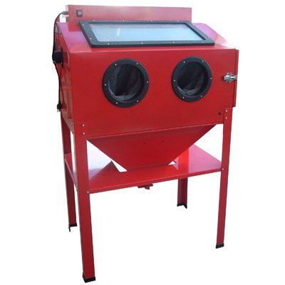 Black Bull SBCNNS Red Vertical Blast Cabinet