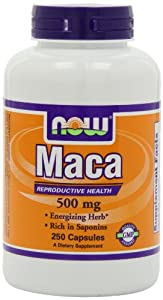 NOW Foods Maca 500mg, 250 Capsules