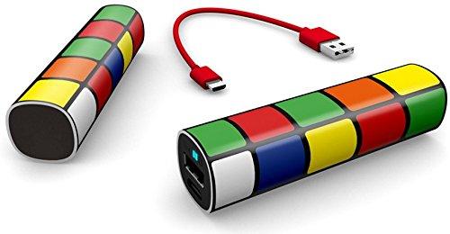Lankoo 2600mAh パワーバンクミニ口紅サイズモバイルバッテリー携帯の充電器のためにiPhone / iPad/ Galaxy Note/ Android / 各種スマホ (ルービック・キューブ)