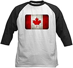 Royal Lion Kids Baseball Jersey Canadian Canada Flag Grunge