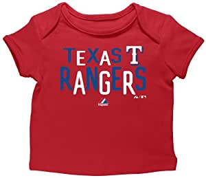 MLB Youth Texas Rangers Girl's Pepper Game Envelope Tee, Red, 3-6 Months