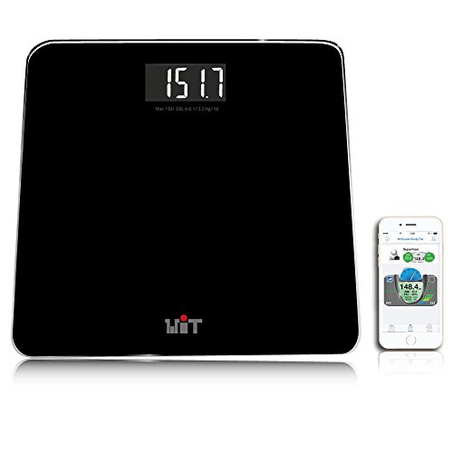 WiTscale S200 Bluetooth Smart Digital Bathroom Scale with Large Backlit