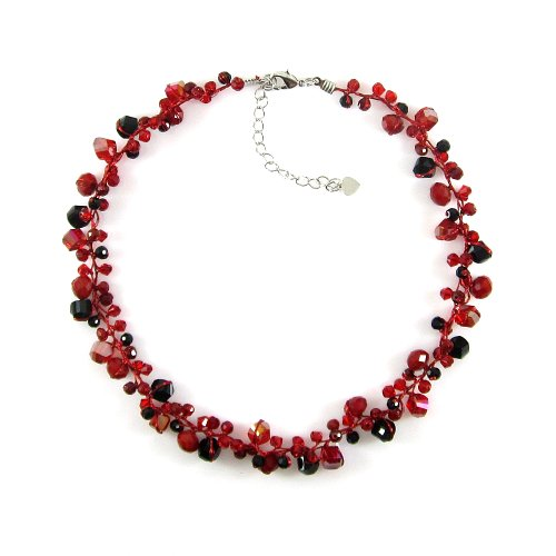 MGD, Red and Black Glass Beads 15