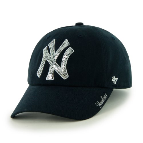 MLB New York Yankees Women's Sparkle Team Color Cap, One-Size, Navy (Mlb Yankees Cap compare prices)
