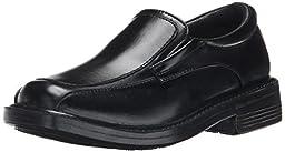 Detour Alec Slip-On Dress Shoe (Little Kid/Big Kid), Black, 4.5 M US Big Kid
