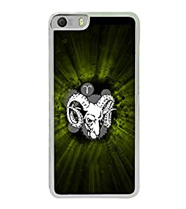 Aries Sign 2D Hard Polycarbonate Designer Back Case Cover for Micromax Canvas Knight 2 E471