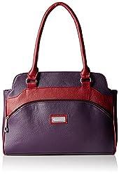 Fantosy Women's Handbag (Purple and Maroon) (FNB-323)