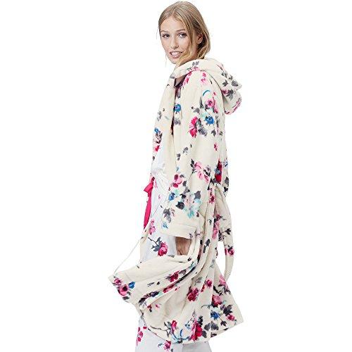 Joules Rita Women\'s Floral Fleece Hooded Dressing Gown