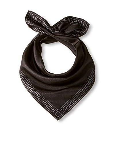 Versace Women's Plain Silk Scarf, Black