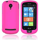 HOT PINK For LG Quantum C900 Rubberized Hard Case Cover