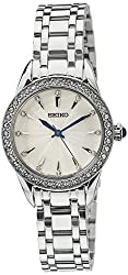 Seiko Analog White Dial Womens Watch - SRZ385P1
