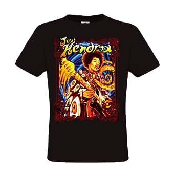 Ethno Designs T-Shirt Jimi Hendrix regular fit, size S, black