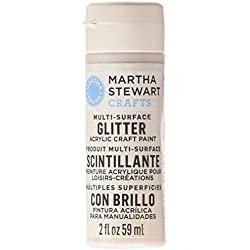 Martha Stewart Crafts Multi-Surface Glitter Acrylic Craft Paint in Assorted Colors (2-Ounce), 32185 Sugar Cube