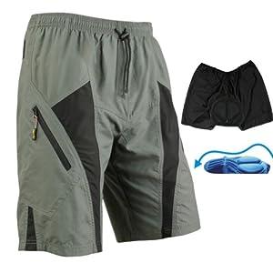 Mens Mountain Loose-fit Biking Shorts Padded Coolmax Cycling MTB Short M L Xl 2xl (XL 35-36