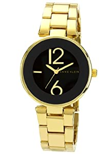 Anne Klein Women's AK/1074BKGB Black Dial Gold Tone Bracelet Watch