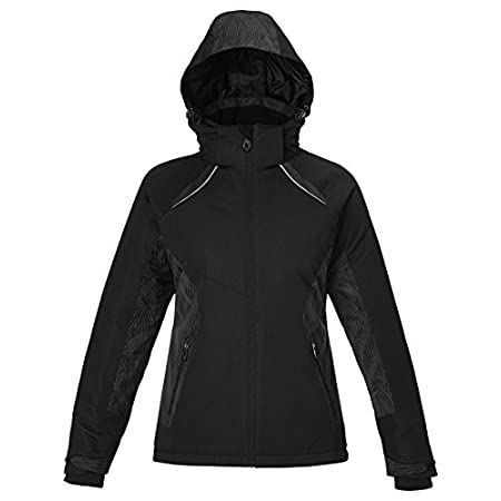 INSULATION: 140 gsm in body; 80 gsm in sleeves, hood and collar; Water resistant finish; 100% polyester full dull dobby, 4.6 oz./yd2/155 gsm; LINING: 100% polyester taffeta with embossed print; inside storm placket with brushed tricot chin guard; the...