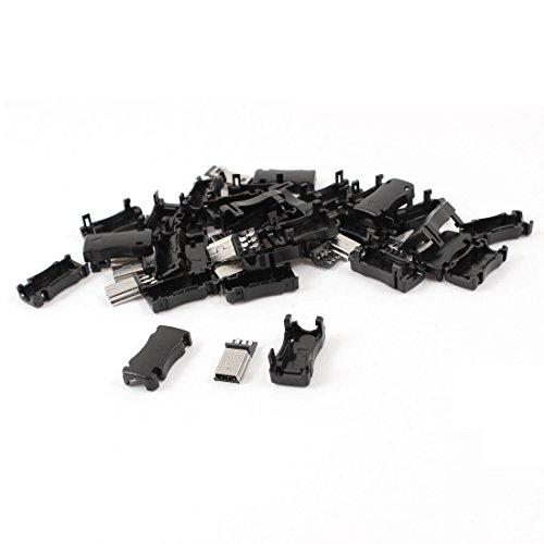 15pcs Mini USB 5 Pin Type B Male Jack Connector Plug Adapter w Cover (Mini Usb Jack compare prices)