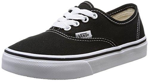 Vans Kids Authentic Skate Shoe Black/True White 4 (Kids Vans Shoes compare prices)