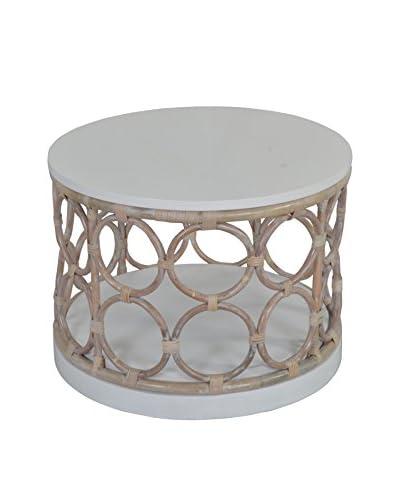 Jeffan Roman Round Side Table, Grey
