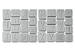Fred & Friends LETTER PRESSED Type-Style Cookie Cutter/Stampers, Set of 28