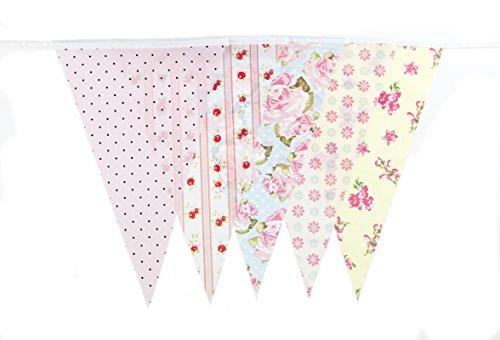 30ft Vintage Baby Shower Tea Party Banner Bunting Party Decoration Banner (C1006)