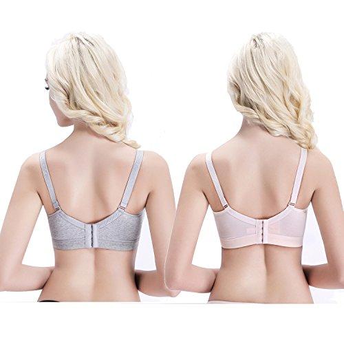 ZUMIY® Women's Wireless Cotton Nursing Bra With Front ...
