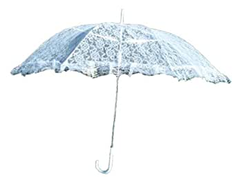 Girl size Lace Parasol, White #ELP001