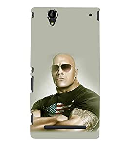 printtech WWE Bull The Rock Back Case Cover for Sony Xperia T2 Ultra::Sony Xperia T2 Ultra Dual