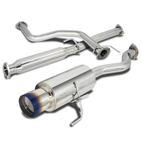 """3/"""" Dual Roll Muffler Tip Exhaust Catback System For 05-09 Kia Spectra 4-DR 2.0L"""