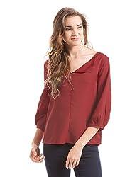 Prym Women's Body Blouse Shirt (1011517901_Red _Large)