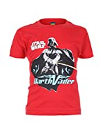 Star Wars Camiseta Manga Corta Darth Vader (Rojo)