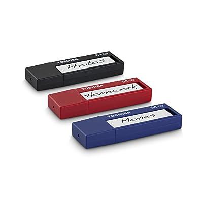 Toshiba 128GB TransMemory ID USB 3.0 Flash Drive Black (PFU128U-1BLK)