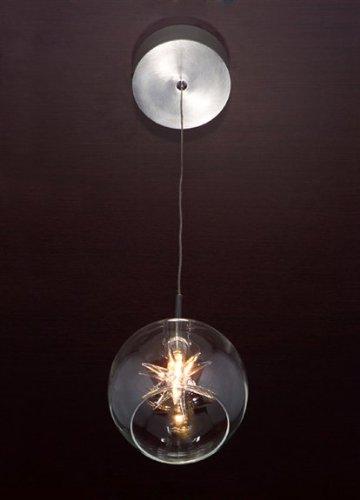 ET2 Lighting E20108-24 Starburst Star Mini Pendant, Satin Nickel