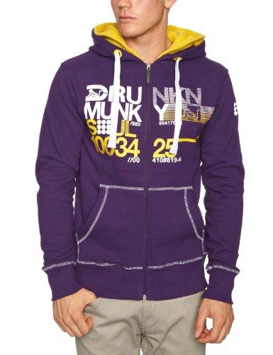 Drunknmunky Splitter Men's Sweatshirt Parachute Purple Small