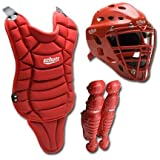 Schutt Youth Catcher's Gear Combination Set (Mask, Leg Guard, and Chest Protector - Ages... by Schutt