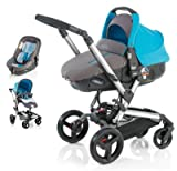 Jane Rider and Matrix Light 2 Travel System - Aqua